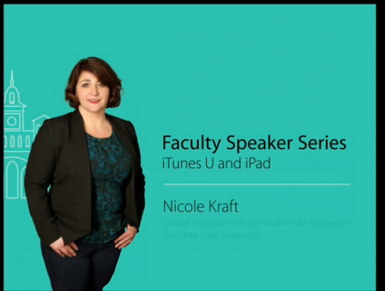 Launching the Apple Faculty Speaker Series
